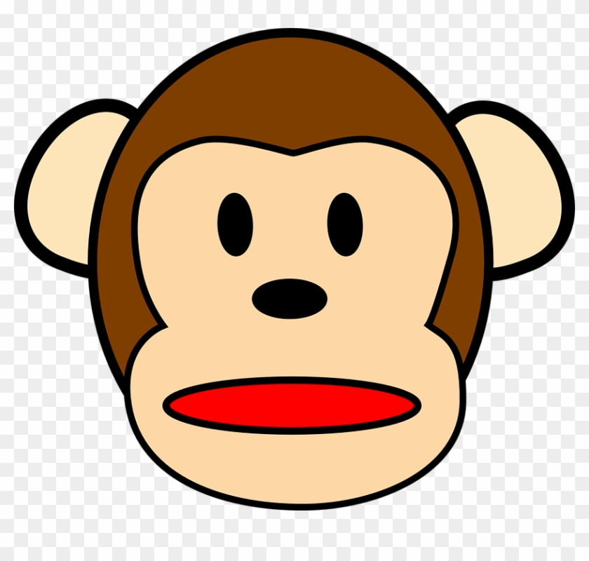 Chimpanzee Surprised Clip Art At Clker - Monkey Face Clip Art #686315