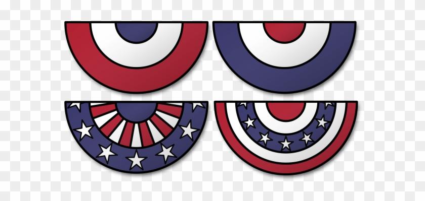 4th Of July Celebration Clip Art - Patriotic Bunting Clip Art #686692