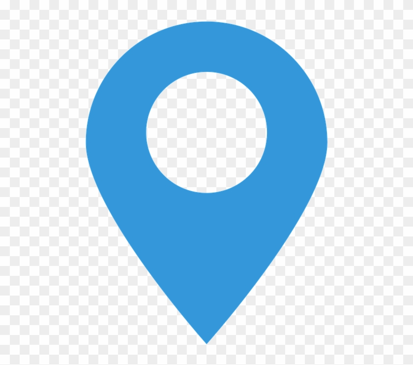 Icon, Contact, Flat, Web, Business, Symbol - Blue Location Pin Icon Png #687906