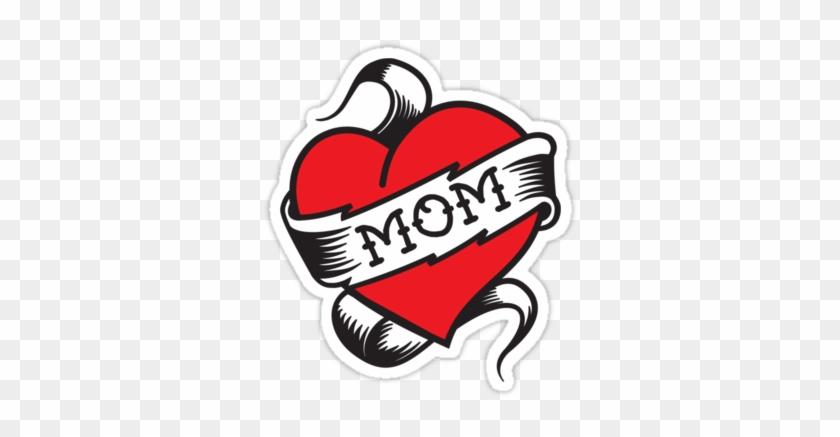 I Love Mom Heart Tattoo Png - Mom Tattoo Png #687951