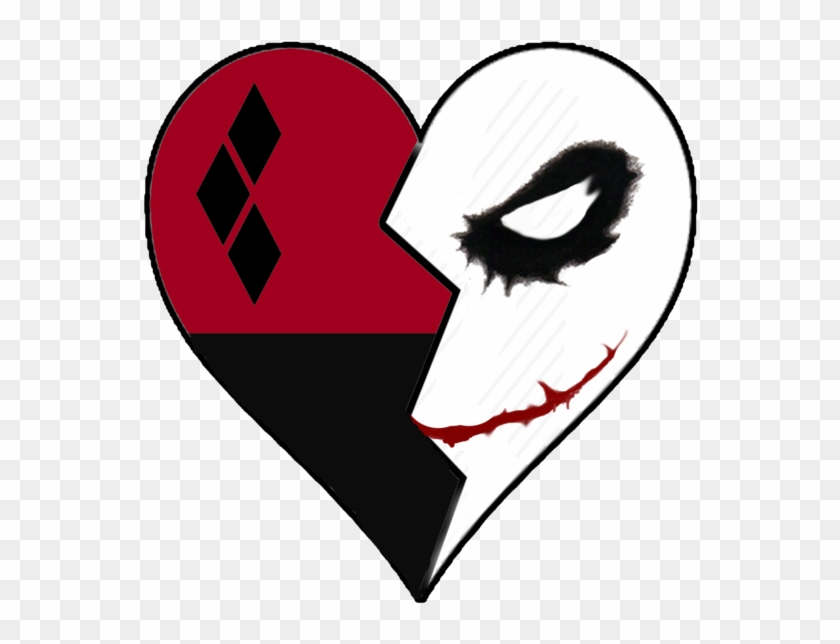 Mad Love Tattoo Design By Little Joker And Harley Quinn Heart Tattoo Free Transparent Png Clipart Images Download