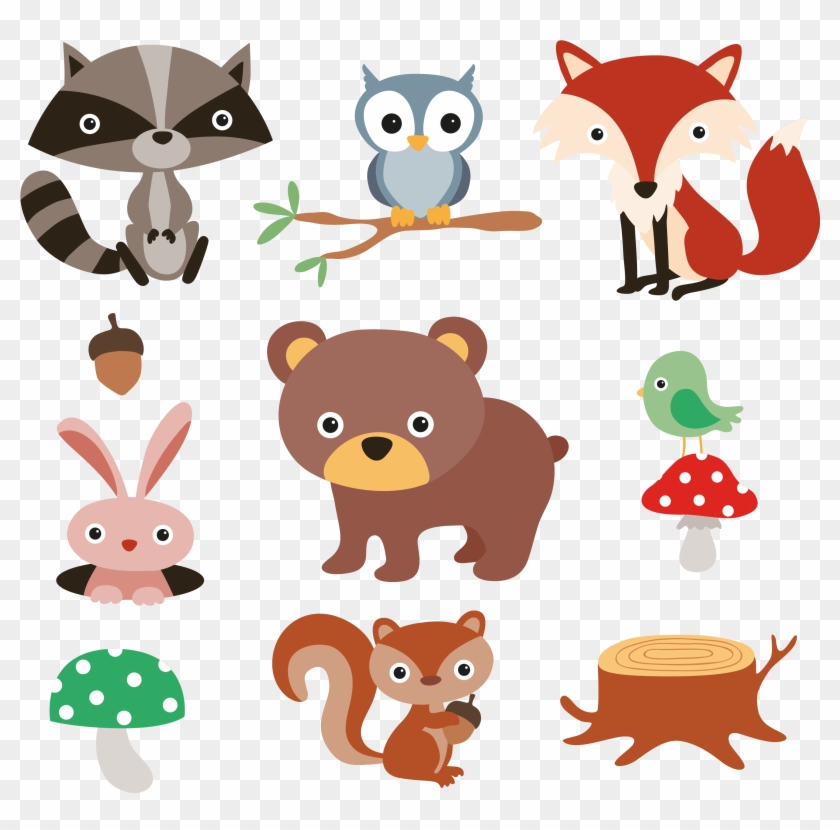 40+ Woodland Animals Reading Book Clipart Transparent Background