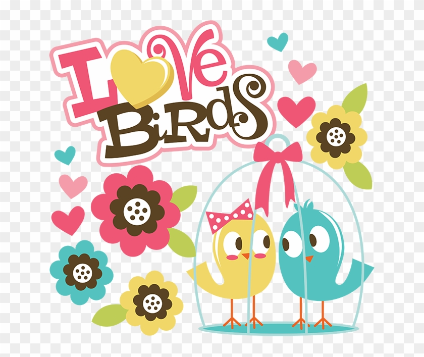 Lovebird Clipart Anniversary - Happy Anniversary To You Two Love Birds #688680