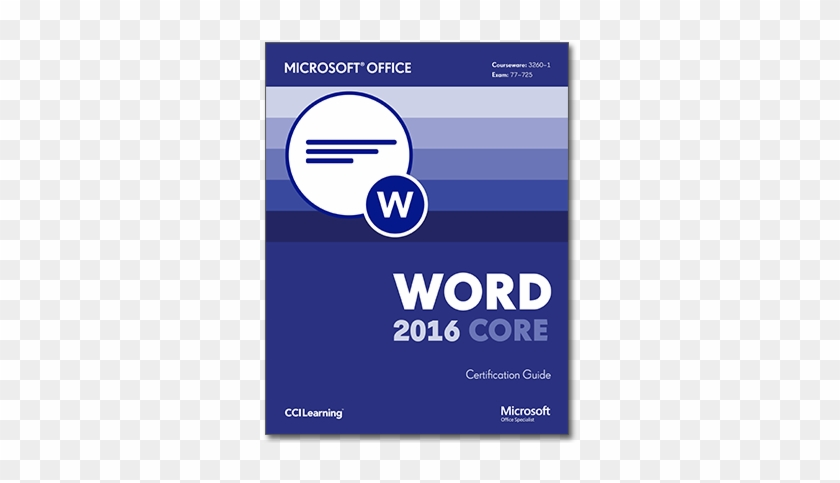 3260-1 Word 2016 Core Frontcover - Microsoft Access 2016 Logo #689424