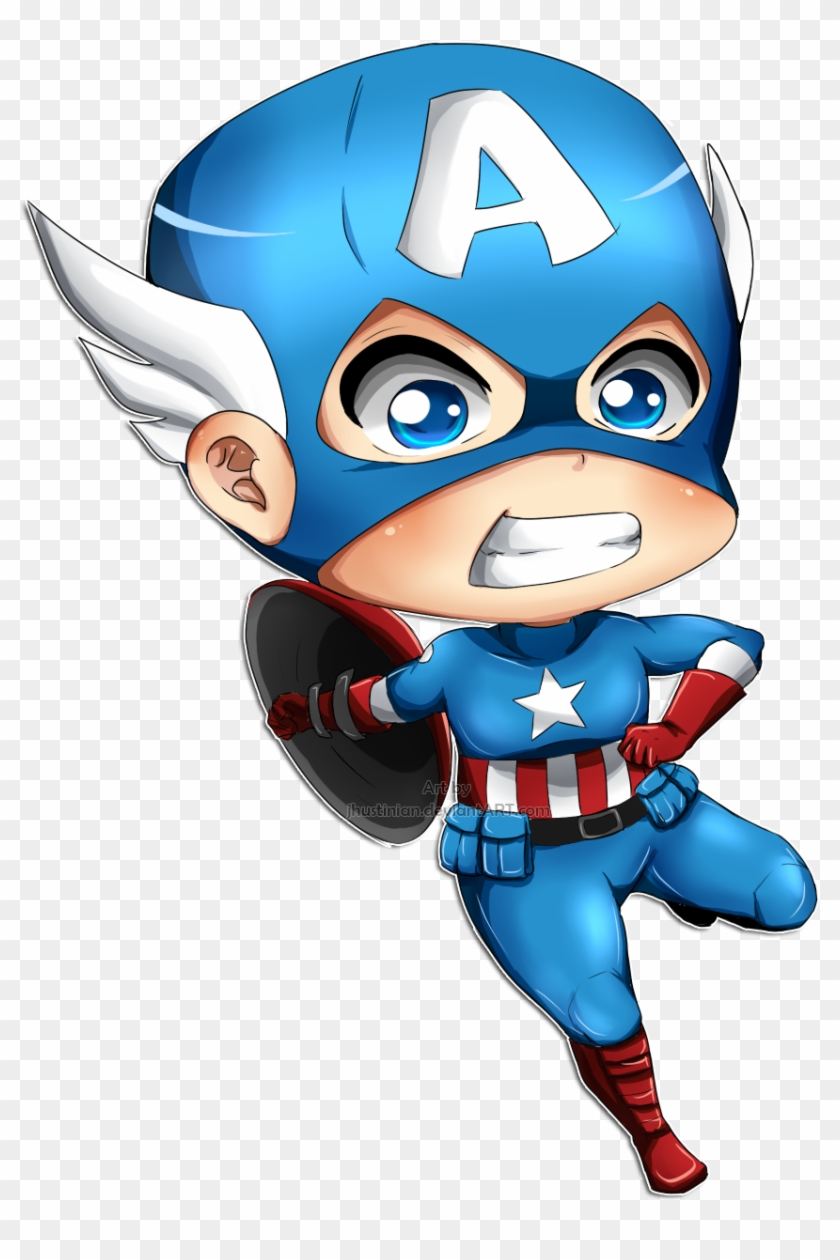 Captain America By Zvrn - Baby Captain America Png - Free