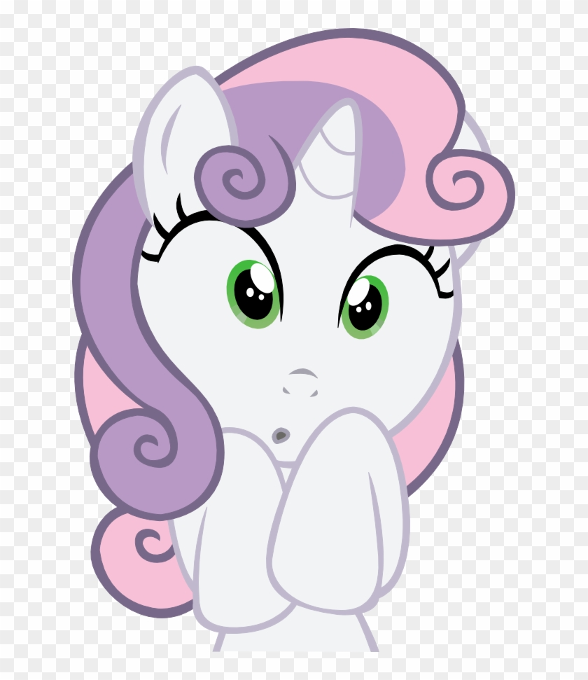 Sweetie Belle Rarity Face Cat Pink White Nose Facial - Sweetie Belle #690640