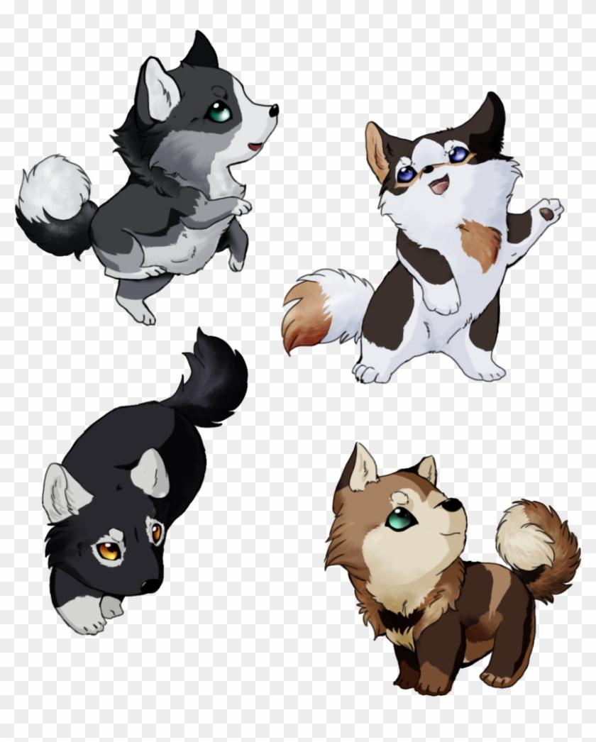 Cute chibi wolf pups chien manga 690676