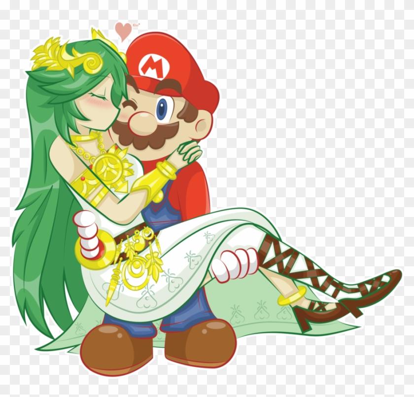 Another Goddess By Jechibi Kun Mario And Palutena Kissing Free