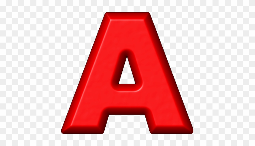 Etc > Presentations Etc Home > Alphabets > Refrigerator - Letter A In Red #692340