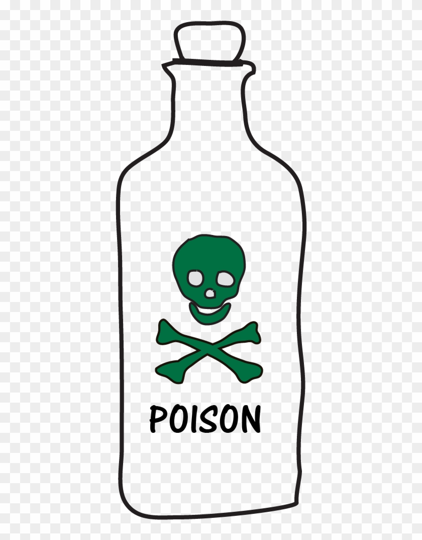 Drawing Of Bottle Labeled Poison - Career In Piracy Rectangle Sticker #693120