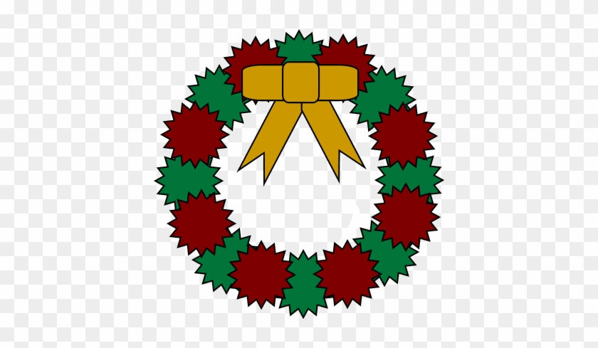 Free Christmas Party Clipart - Christmas Wreath Embroidery Design #693476