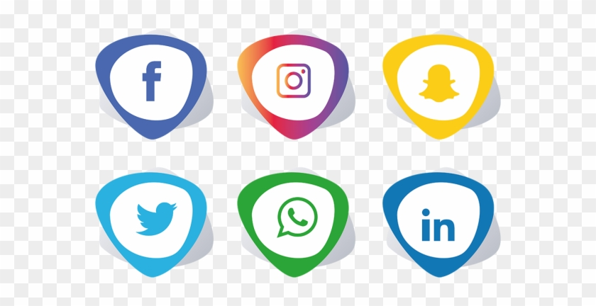Social Media Icons Set - Social Media Icons Png #694800