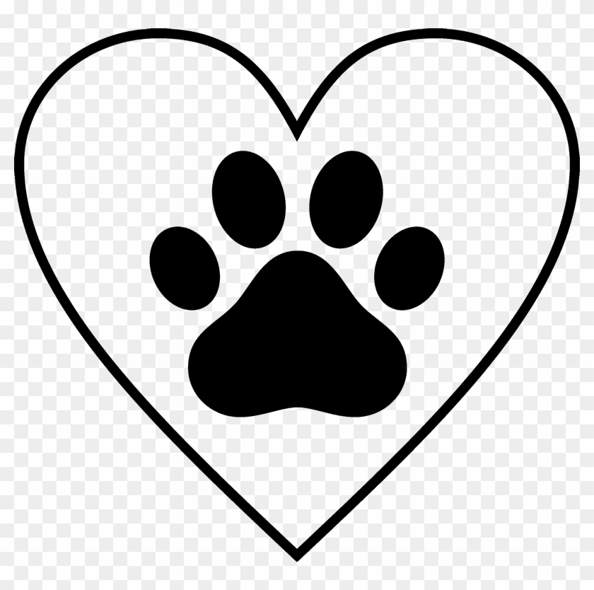 paw print in heart rubber stamp cold weather pet tips free