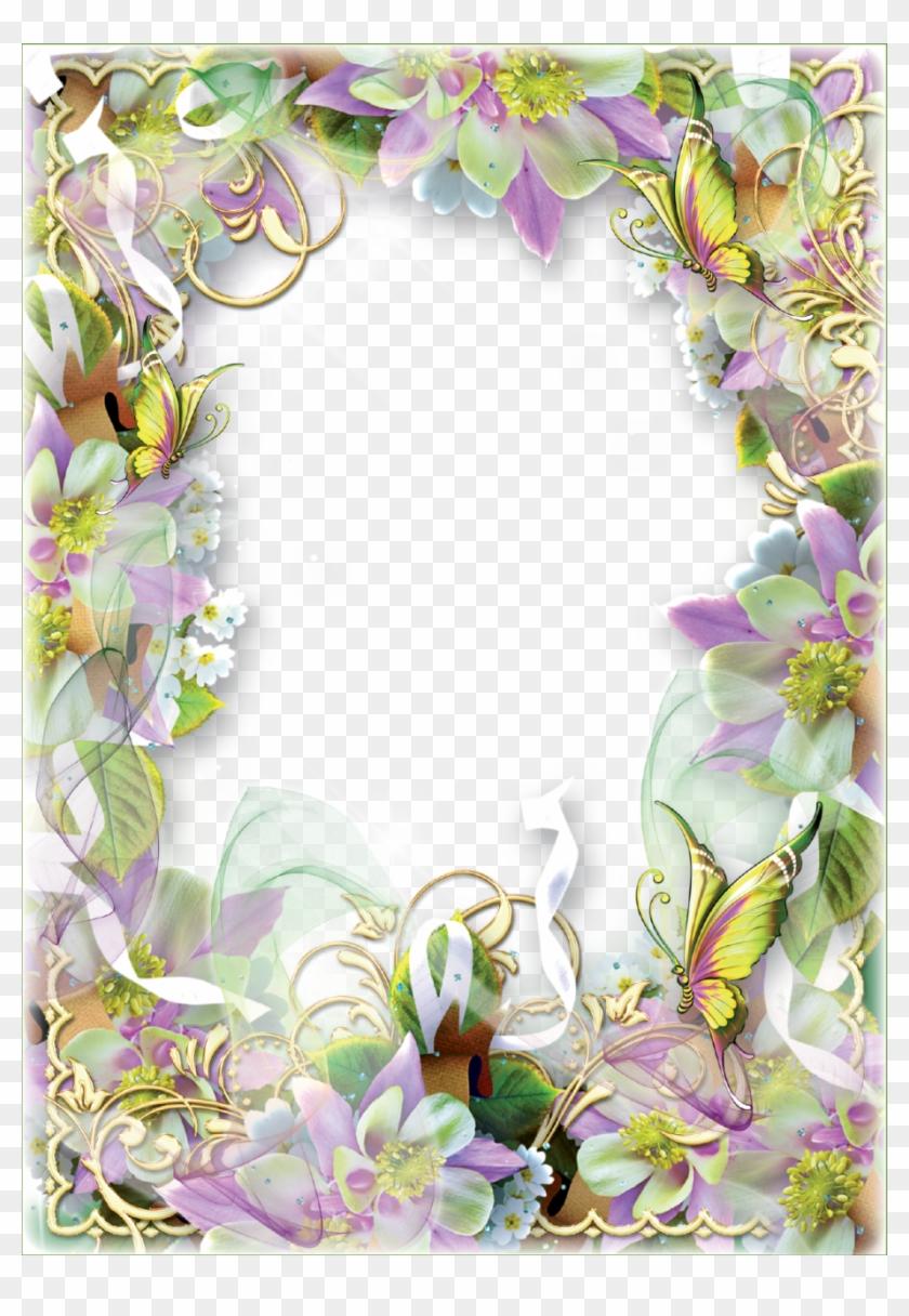 Photo frame spring flowers and butterflies butterflies spring photo frame spring flowers and butterflies butterflies spring flower borders clip art mightylinksfo