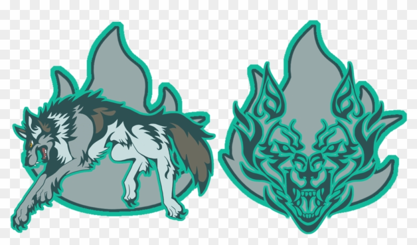 great grey wolf logo free transparent png clipart images download
