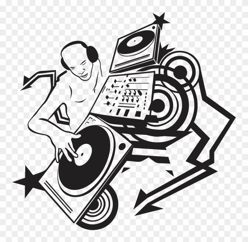 Drawing Disc Jockey Music Clip Art Sticker Dj Png Free