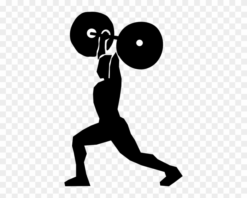 Cartoon Man Lifting Weights - Weight Lifting Clipart #696625