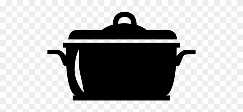 Pot Icon - Cooking Pot Silhouette #696667
