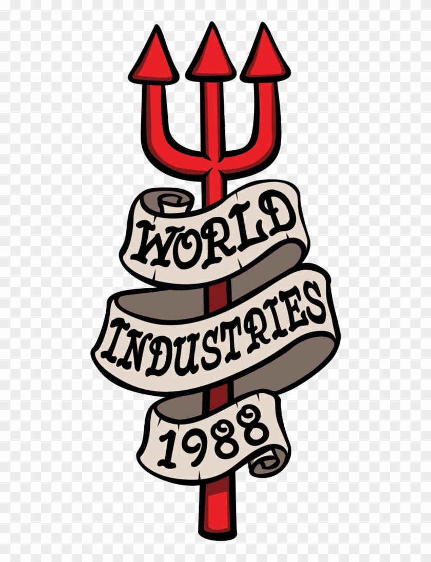 1988 Pitchfork Sticker - Tech Deck World Industries #696779