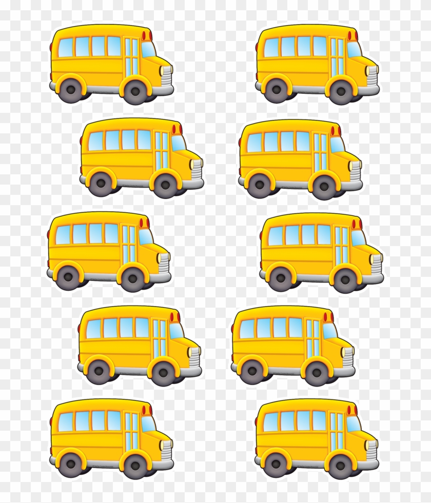 """Tcr5294 School Bus Accents Image - Teacher Created Resources 2 5/8"""" Mini Accents, School #696860"""