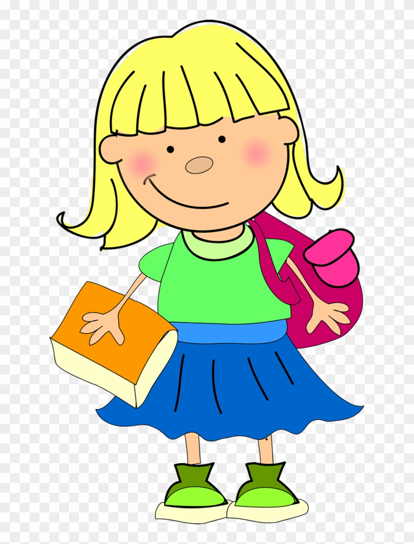 Album - Clipart Pic Of A Girl Going To School #697048