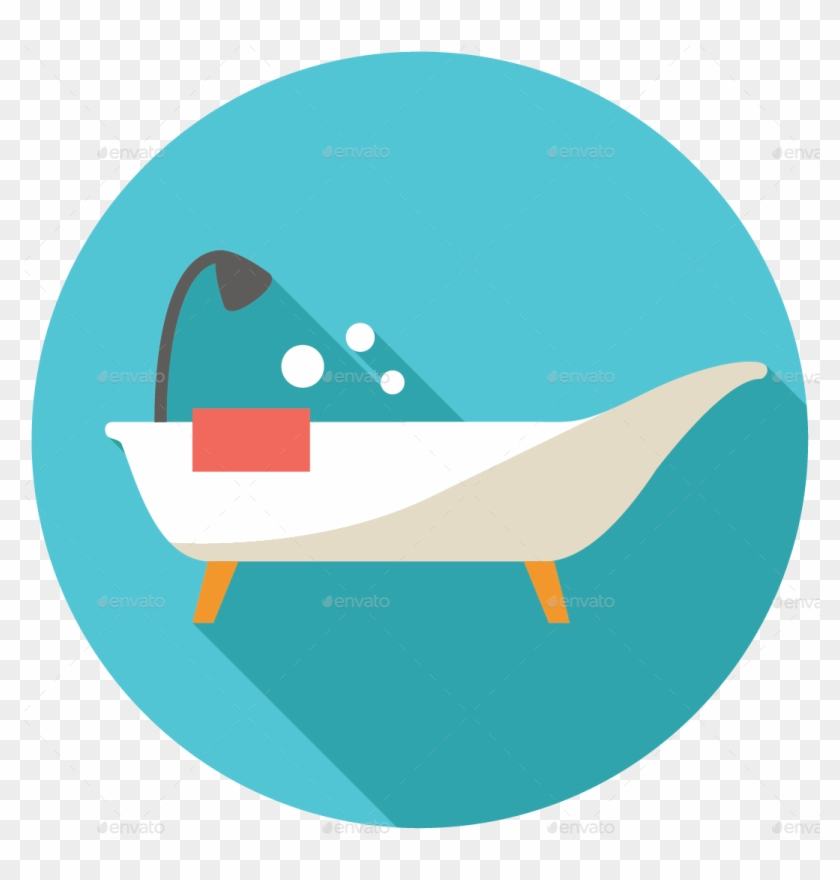 Bed Icon Png - Bath Tub Flat Icon #697851