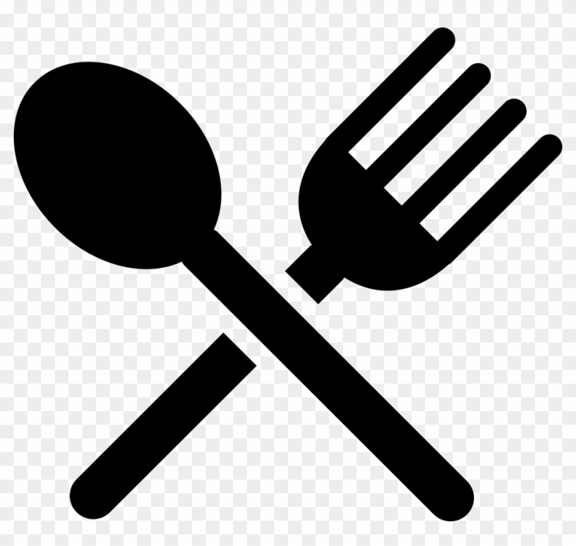Flatware Silhouette Of A Knife And A Fork Cross Comments - Spoon And Fork Silhouette #699483