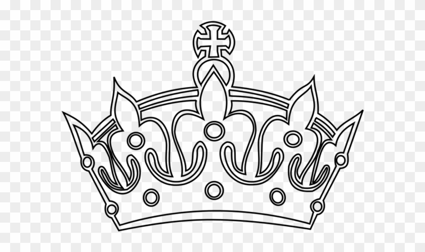 Transparent Background Keep Calm Crown - Tattoo Crown King Png #702583