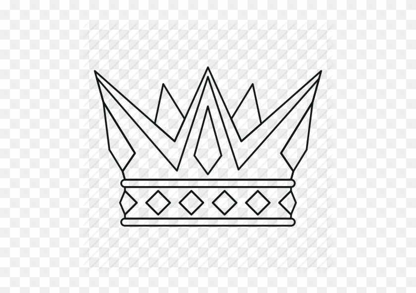 Crown, King, Leader, Line, Outline, Queen, Thin Icon - Vector Graphics #702727