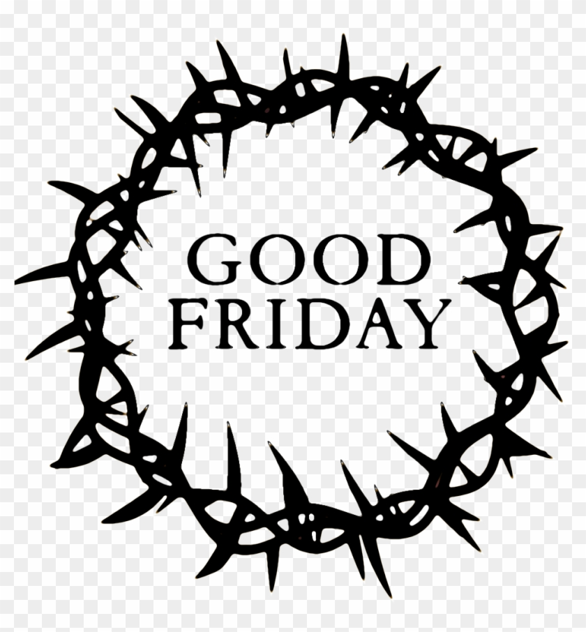 Good Friday Crown - Good Friday Images Black And White #702761