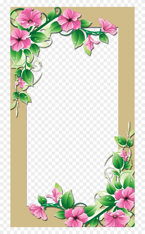 Flower frame pink flower border clip art free transparent png flower frame pink flower border clip art mightylinksfo