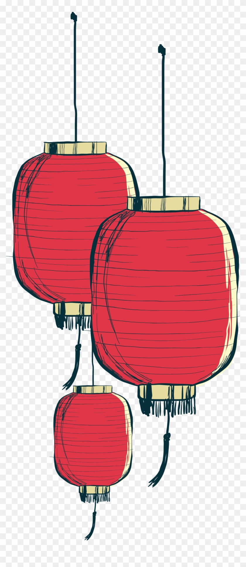 Hand Painted Chinese Lantern - Gold Chinese Lantern Png #703323