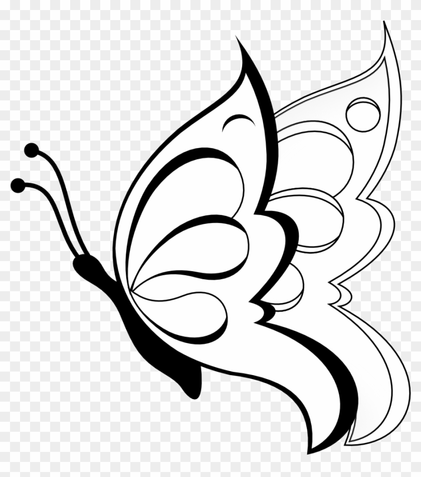 Free Damask Clipart Easy To Draw Butterfly Free Transparent Png