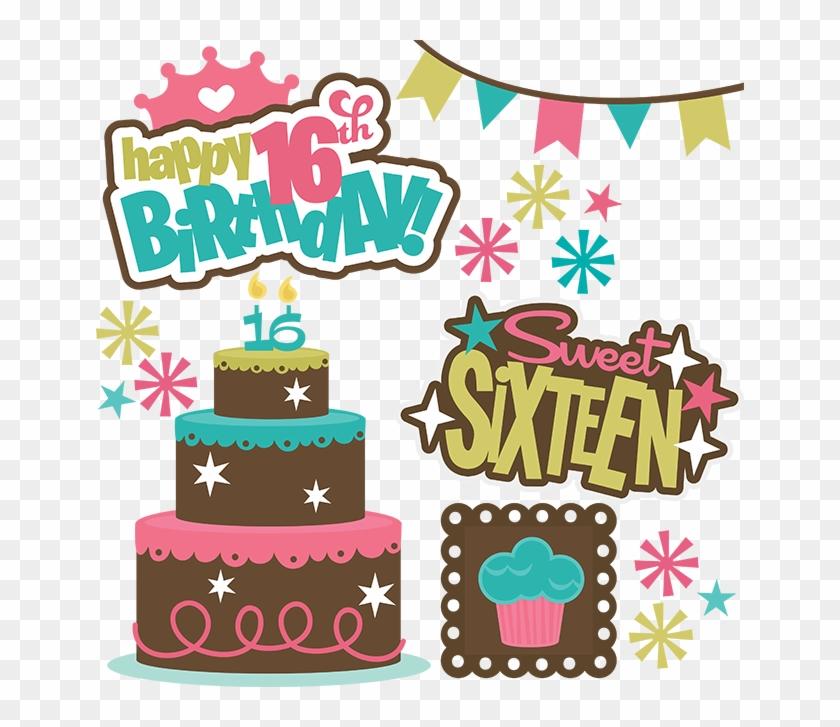 16th Birthday Clipart, 16th Birthday Clipart Free, - Happy Birthday 16th Girl #703472