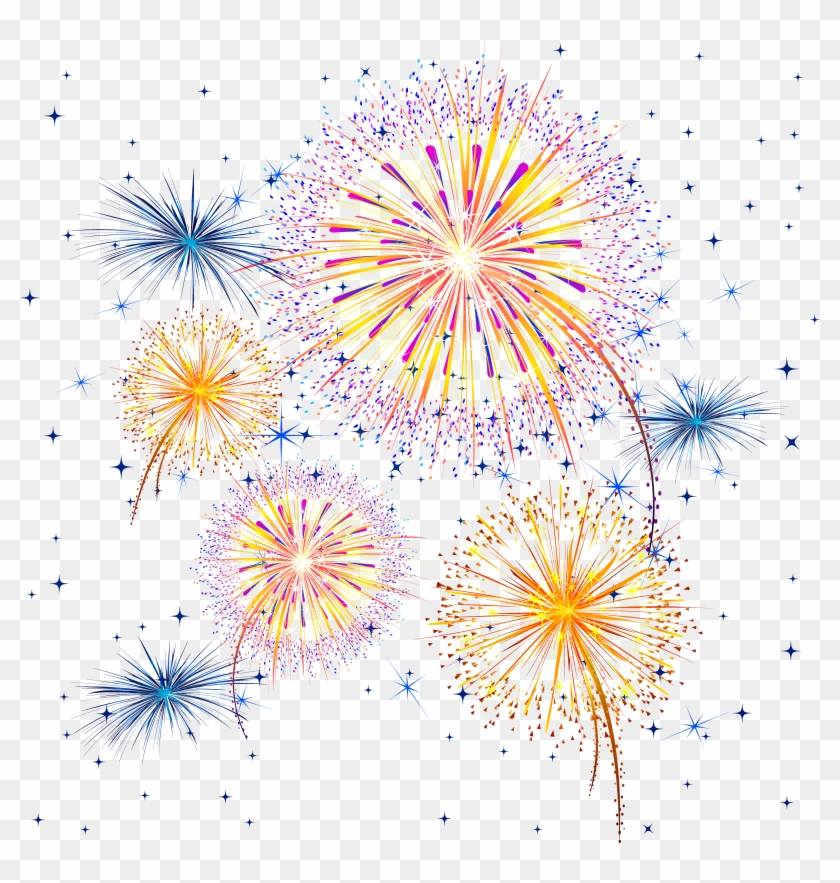 Firework Show Png Clipart Image - Transparent Background Fireworks Clipart #703552