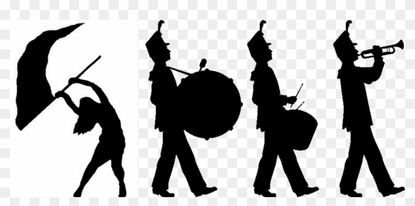 Color Guard - Marching Band Clipart #704365
