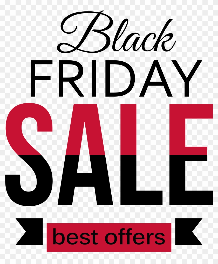Black Friday Sale Red And Black Clipart Png Picture - Barber Shop Window Sign Vinyl Sticker #706392