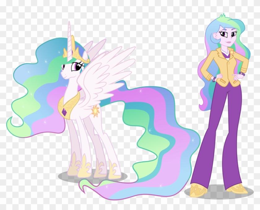 Princess Celestia And Principal Celestia By Vector-brony - Equestria Girls Princesa Celestia #707253