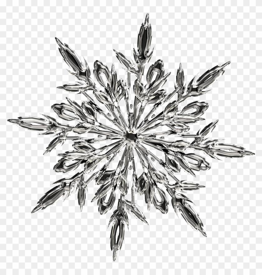T-shirt Ice Crystals Snowflake - Snowflake #708978