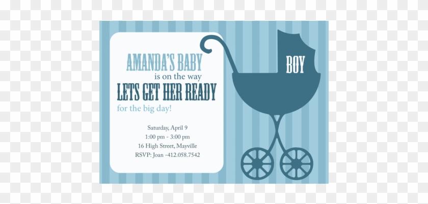 Pram Baby Shower Invitations Astonishing Stroller Baby - Retro Pram Boy Baby Shower Invitations #709447