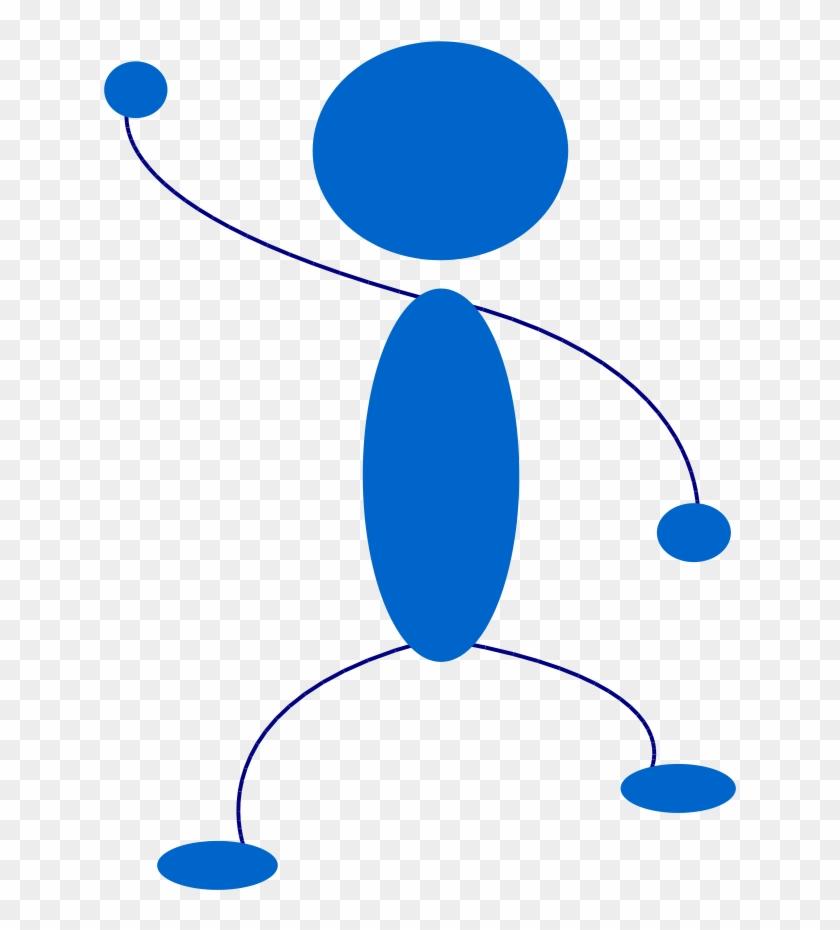 Stick Figure Clip Art - Animated Person Waving #709878