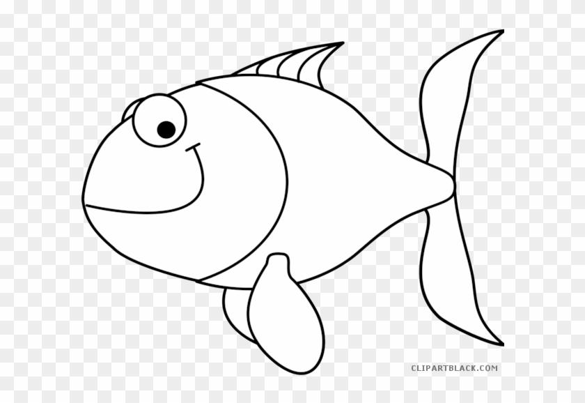 Fish Outline Animal Free Black White Clipart Images - Fish Clip Art Black #710467