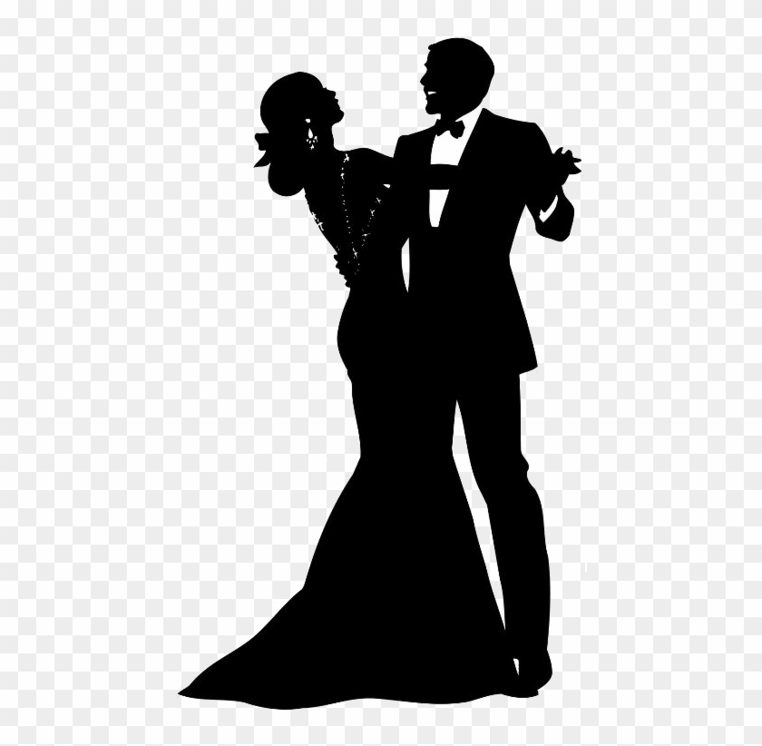 Fashion Drawings - Man And Woman Dancing Silhouette #710727