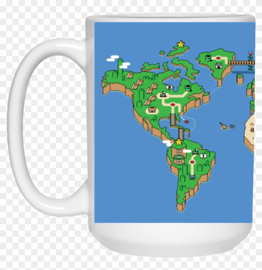 Mario World Map Theme Mug - Super Mario World Map Poster - Free ...