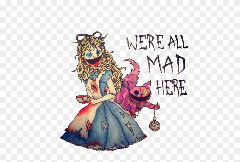 Drawn Alice In Wonderland Transparent Tumblr Creepy Alice In Wonderland Drawings Free Transparent Png Clipart Images Download