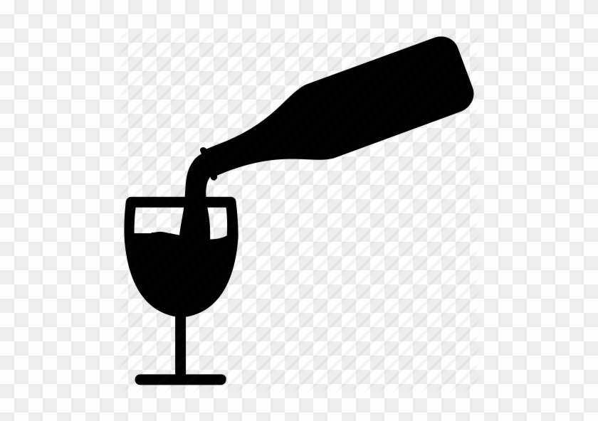 Alcohol, Bottle And Glass, Drink - Wine Bottle Pouring Icon #712037