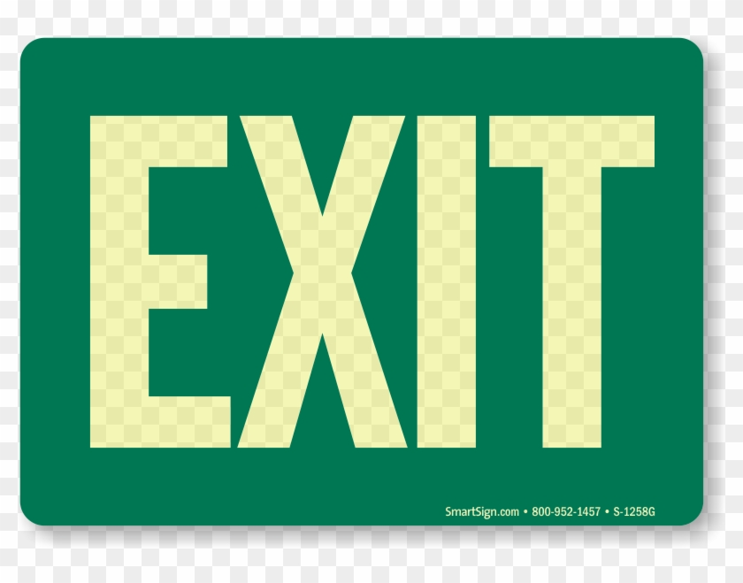 Zoom, Price, Buy - Exit Sign Clip Art Free #712198