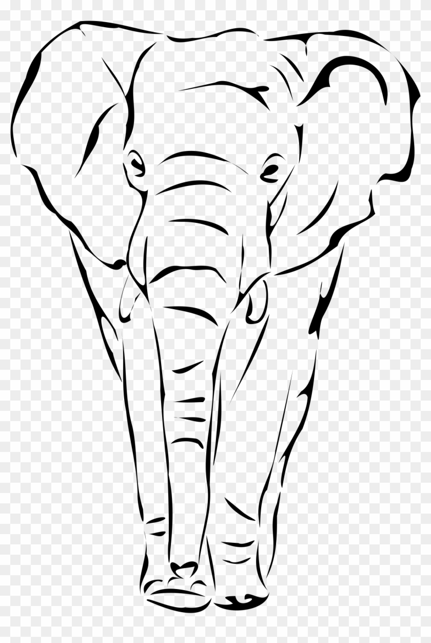 Elephant By Artbejo - Draw An Elephant Face #712202