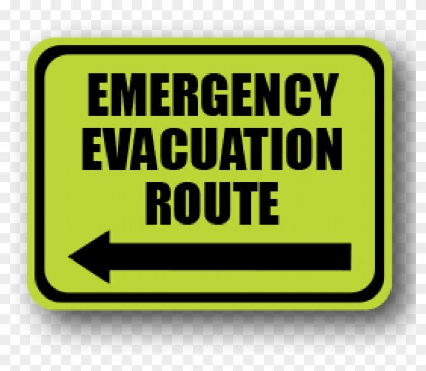 "Glow In The Dark Visual Management Emergency Sign - Durastripe 24""x18"" Rectangle - Emergency Evacuation #712257"