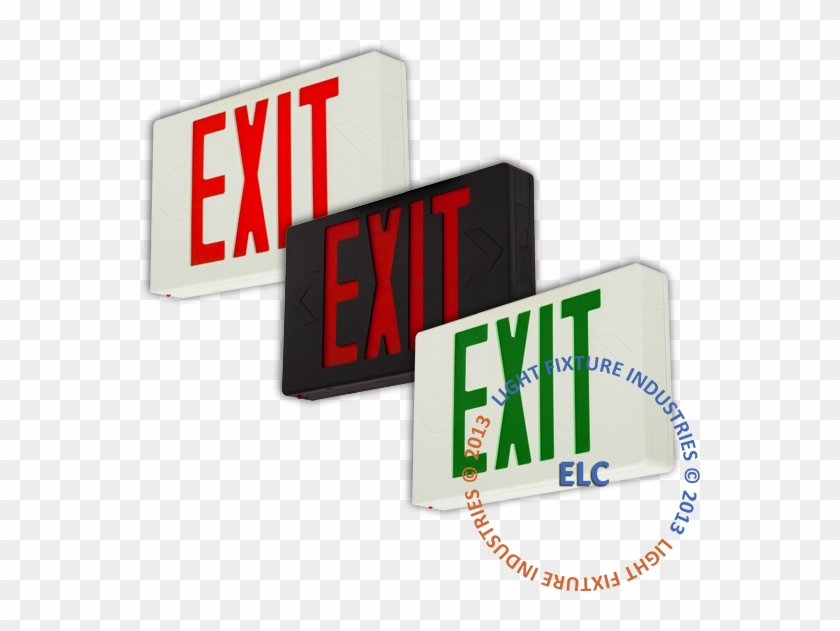 Close Exit Sign,ul Listed - Lusana Studio Tje3scr Red Led Emergency Exit Light #712495